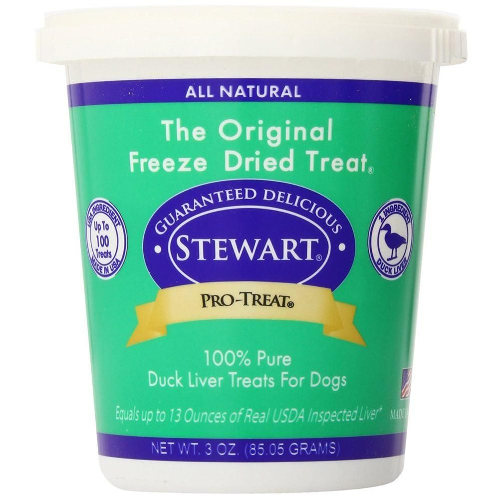 Pro-Treat Freeze Dried Duck Liver Tub Dog Treat 3oz
