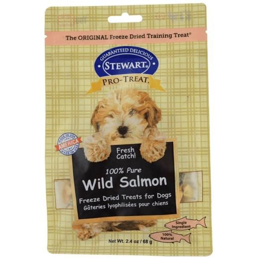 Pro-Treat Freeze Dried Wild Salmon Pouch Dog Treats (2 Sizes)