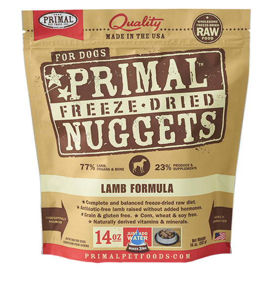 Freeze-Dried Canine Lamb Nuggets